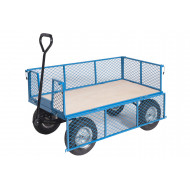 General Purpose Platform Truck With Plywood Base, Mesh Sides And Ends (400kg Capacity)