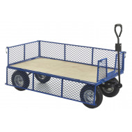 Industrial General Purpose Truck With Plywood Base And Mesh Sides (500kg Capacity)