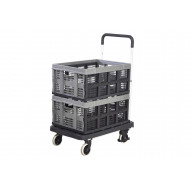 Foldaway Platform Truck With 2 Removable Folding Boxes (120kg Capacity)