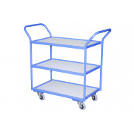 Fully Welded Tray Trolleys With MFC Trays (125kg Capacity)