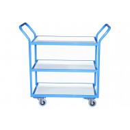 Fully Welded Tray Trolleys With Steel Trays (125kg Capacity)