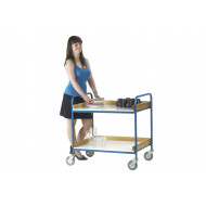 Canteen Trolley With Melamine Trays (125kg Capacity)