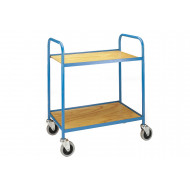 Tubular Steel Tray Trolley With Plywood Trays (125kg Capacity)