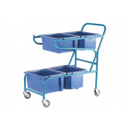 Large Container Trolley With 4 Containers (50kg Capacity)