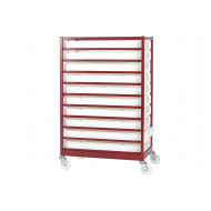 Mobile Tray Rack With 10 Trays