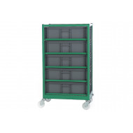 Mobile Container Racks With 5 Containers