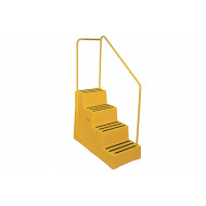 Heavy Duty Industrial Step With 4 Treads And Handrail