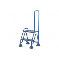 Fort Domed Feet Mobile Steps With 2 Steps And Looped Handrail