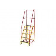 Fort Duplex Weight Reactive Mobile Steps With Non Slip Treads (Yellow Inner Frame)