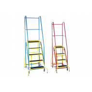 Fort Duplex EN-131 Weight Reactive Mobile Steps With Non Slip Treads (Yellow Inner Frame)