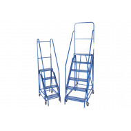 Fort Duplex Weight Reactive Mobile Steps With Steel Treads (Blue)