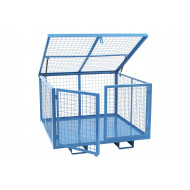 Storage Cage With Lift Up Lid