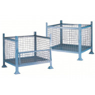 Metal pallet with mesh sides