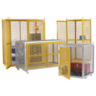 Welded mesh security cages
