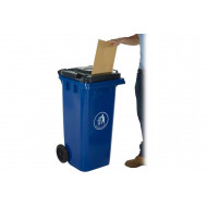 Wheeled Bin With Letter Slot Lid
