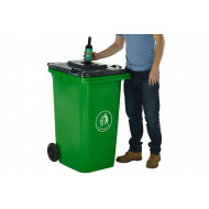 Wheeled Bin With Bottle Hole Lid