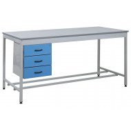 Taurus Utility Workbench With 3 Drawer Pedestal
