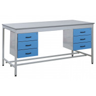 Taurus Utility Workbench With 2 x 3 Drawer Pedestal