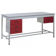 Taurus Utility Workbench With 1+3 Drawer Pedestal