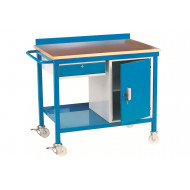 Mobile Workbench With Plywood Top