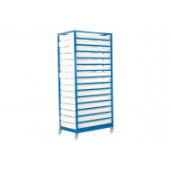 Mobile Tray Rack With 15 Trays