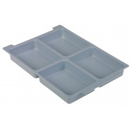 4 Compartment Insert For Gratnell Shallow Trays