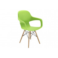 Next-Day Booth Wire Base Bistro Chair (Green)