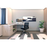 Simpson Smart Storage Desk (Grey Oak)