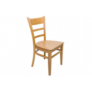 Corus Dining Chair With Wooden Seat