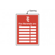 Fire Marshals Are (Name & Telephone No) Insert Sign