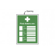 First Aiders Are (Name/Location/Telephone No) Insert Sign