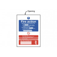 Fire Action Insert Sign