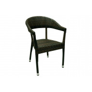 Remi Rattan Stacking Open Arm Chair