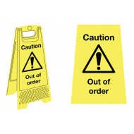 Caution Out Of Order Floor Stand