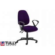 Tully High Back Asynchro Operator Chair (Fixed Arms)