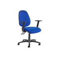 Gilmour High Back Fabric Operator Chair Adjustable Arms (Blue)