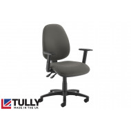 Tully High Back Asynchro Operator Chair (Adjustable Arms)