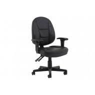Mundaka High Back Leather Chair (Adjustable Arms)