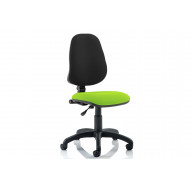 Lunar 1 Lever Two Tone Fabric Operator Chair (No Arms)