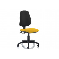 Lunar 2 Lever Two Tone Fabric Operator Chair (No Arms)