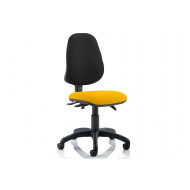 Lunar 3 Lever Two Tone Fabric Operator Chair (No Arms)