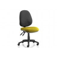 Solar Two Tone 2 Lever Fabric Chair (No Arms)
