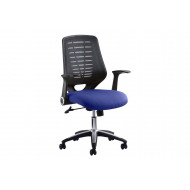 Baton Mesh Back Operator Chair With Fabric Seat And Arms