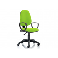 Lunar 1 Lever Operator Chair (Fixed Arms)