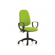 Lunar 2 Lever Operator Chair (Fixed Arms)