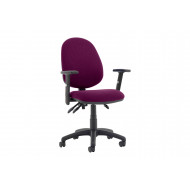 Lunar Plus 3 Lever Fabric Operator Chair (Adjustable Arms)