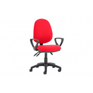 Lunar Plus 3 Lever Fabric Operator Chair (Fixed Arms)