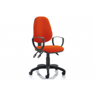 Lunar 3 Lever Operator Chair (Fixed Arms)