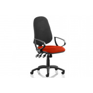 Haze Two Tone High Back Operator Chair (Fixed Arms)