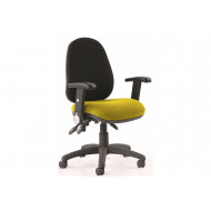 Solar Two Tone 3 Lever Fabric Chair (Folding Arms)